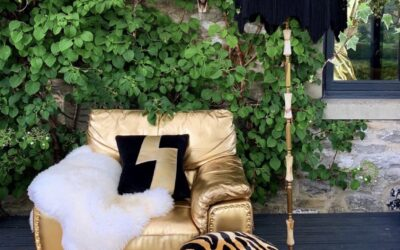How I transformed a boring old brown armchair into a gold statement chair