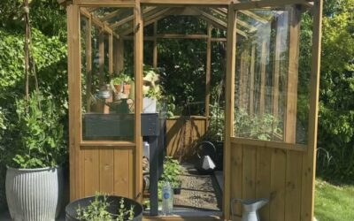 My Gardening Journey – Part One: Building the Greenhouse & Potting Table Upcycle